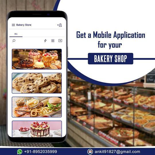 BAKERY, RESTAURANT, FOOD DELIVERY E-COMMERCE MOBILE APP